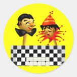 Camisetas y regalos del payaso de circo de los etiqueta redonda