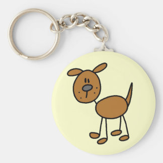 Camisetas y regalos del perro de Brown Llavero Redondo Tipo Pin