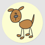 Camisetas y regalos del perro de Brown Etiqueta Redonda
