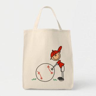 Camisetas y regalos del personalizar del béisbol d bolsa tela para la compra