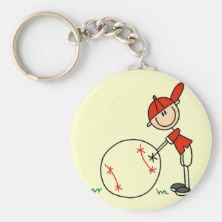 Camisetas y regalos del personalizar del béisbol d llavero redondo tipo pin