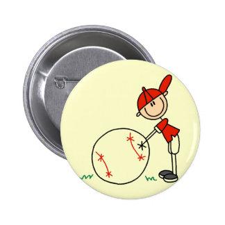 Camisetas y regalos del personalizar del béisbol d pin redondo 5 cm