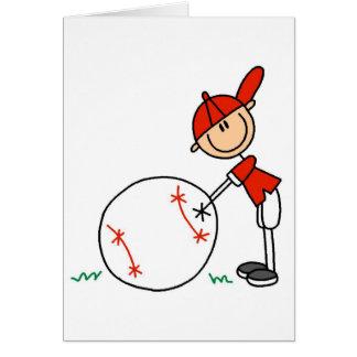 Camisetas y regalos del personalizar del béisbol d tarjeta de felicitación