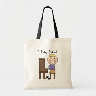 Camisetas y regalos del pianista bolsa tela barata