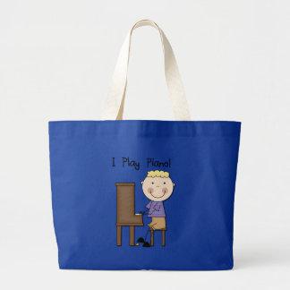 Camisetas y regalos del pianista bolsa tela grande