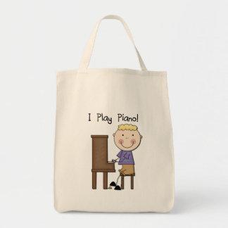 Camisetas y regalos del pianista bolsa de mano