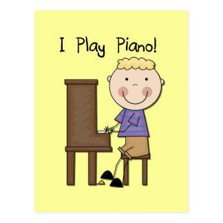 Camisetas y regalos del pianista tarjetas postales