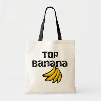 Camisetas y regalos del plátano superior bolsas