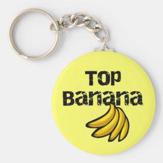 Camisetas y regalos del plátano superior llavero redondo tipo pin