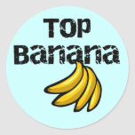 Camisetas y regalos del plátano superior pegatina