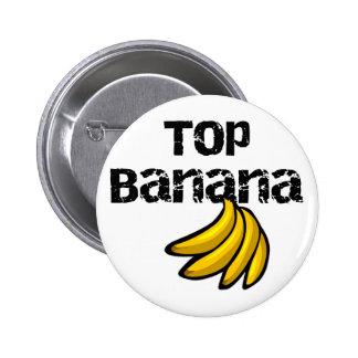 Camisetas y regalos del plátano superior pin redondo 5 cm
