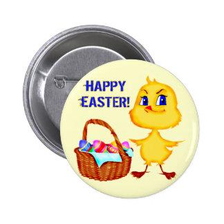 Camisetas y regalos del polluelo de Pascua Pin Redondo 5 Cm
