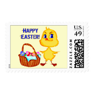 Camisetas y regalos del polluelo de Pascua Sello Postal