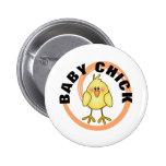 Camisetas y regalos del polluelo del bebé pin