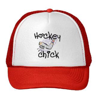 Camisetas y regalos del polluelo del hockey gorros
