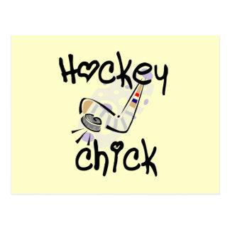 Camisetas y regalos del polluelo del hockey postales