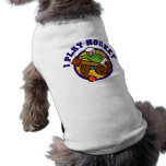 Camisetas y regalos del portero del hockey playera sin mangas para perro