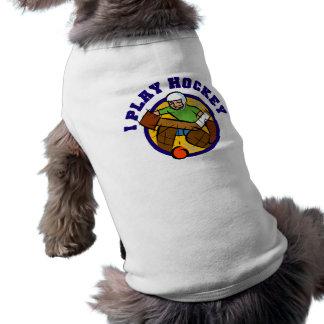 Camisetas y regalos del portero del hockey ropa de perros