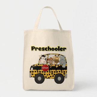 Camisetas y regalos del Preschooler del autobús es Bolsa