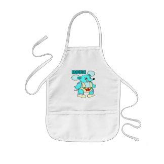 Camisetas y regalos del ratón de los niños delantal