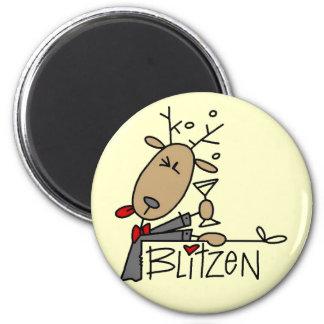 Camisetas y regalos del reno de Blitzen Imán Redondo 5 Cm