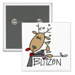 Camisetas y regalos del reno de Blitzen Pin