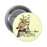 Camisetas y regalos del reno de Blitzen Pins