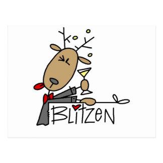 Camisetas y regalos del reno de Blitzen Postales