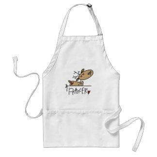 Camisetas y regalos del reno de Prancer Delantales