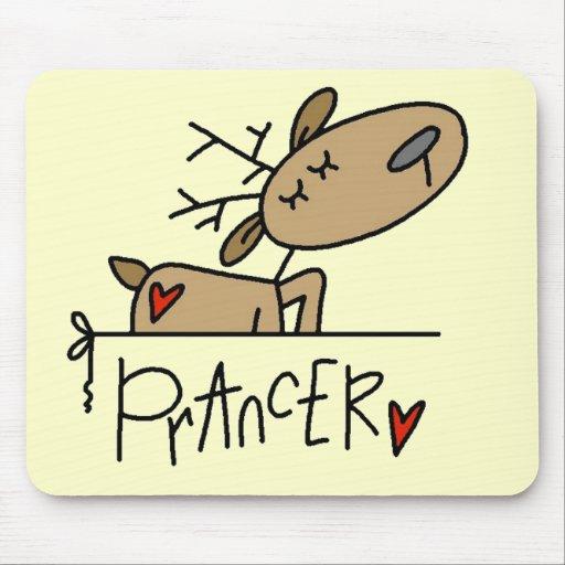Camisetas y regalos del reno de Prancer Tapetes De Ratones