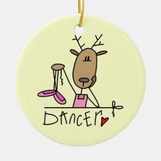 Camisetas y regalos del reno del bailarín adornos de navidad
