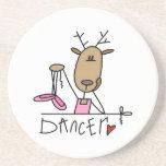 Camisetas y regalos del reno del bailarín posavasos cerveza