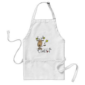 Camisetas y regalos del reno del cometa delantales