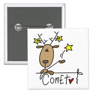 Camisetas y regalos del reno del cometa pins