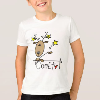 Camisetas y regalos del reno del cometa playeras
