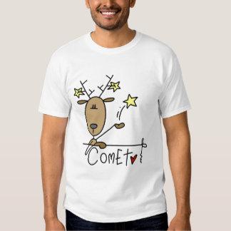 Camisetas y regalos del reno del cometa poleras