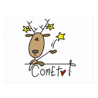 Camisetas y regalos del reno del cometa postales