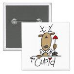 Camisetas y regalos del reno del Cupid Pin
