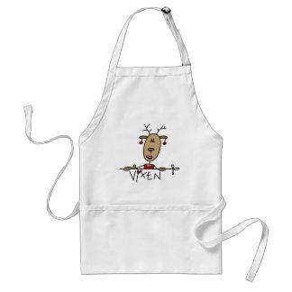 Camisetas y regalos del reno del Vixen Delantales