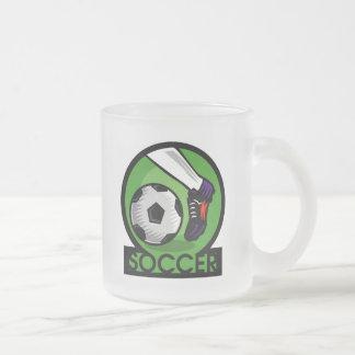 Camisetas y regalos del retroceso del fútbol taza de cristal