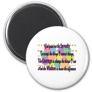 Camisetas y regalos del rezo de la serenidad imán redondo 5 cm