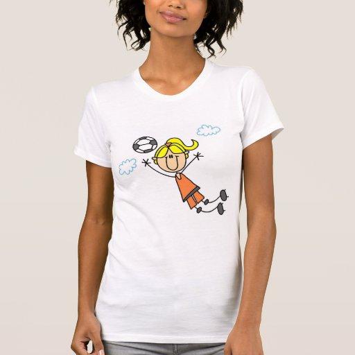 Camisetas y regalos del salto del fútbol del chica