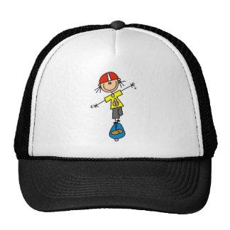 Camisetas y regalos del skater del chica gorras