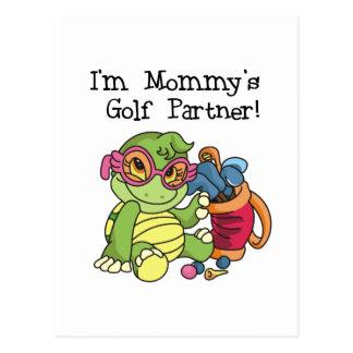 Camisetas y regalos del socio del golf de la mamá postal