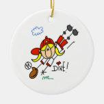 Camisetas y regalos del softball de los chicas de adornos