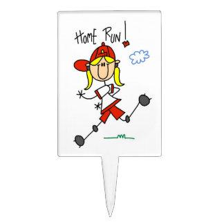 Camisetas y regalos del softball de los chicas del figura de tarta