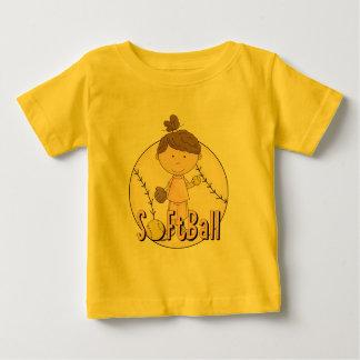 Camisetas y regalos del softball de los chicas playeras