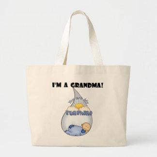 Camisetas y regalos del Sol-Muchacho de la abuela Bolsa Tela Grande