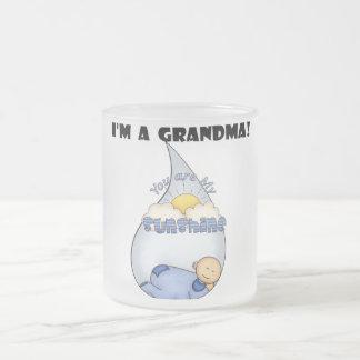 Camisetas y regalos del Sol-Muchacho de la abuela Taza Cristal Mate