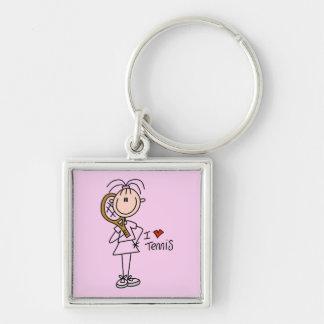 Camisetas y regalos del tenis del amor del chica I Llavero Personalizado
